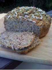 coconut flax bread