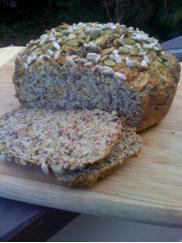 coconut flax bread